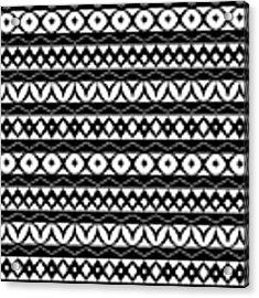 Fair Isle Black And White Acrylic Print