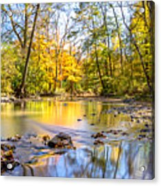 Fall In Wisconsin Acrylic Print by Steven Santamour