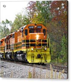 Fall Train In Color Acrylic Print by Rick Morgan