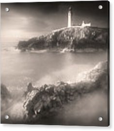 Fanad Lighthouse In The Mist Acrylic Print by Susan Maxwell Schmidt