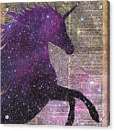 Fantasy Unicorn In The Space Acrylic Print