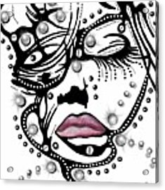 Female Abstract Face Acrylic Print by Darren Cannell