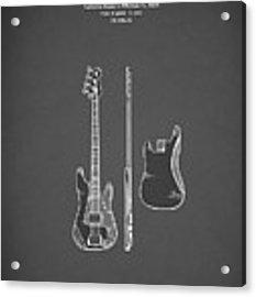 Fender Bass Guitar 1960 Acrylic Print