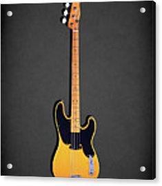 Fender Precision Bass 1951 Acrylic Print by Mark Rogan