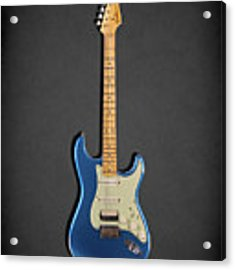 Fender Stratocaster 57 Acrylic Print by Mark Rogan