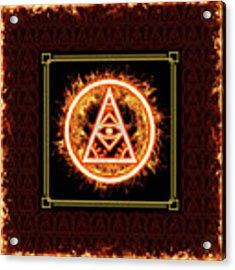 Fire Emblem Sigil Acrylic Print by Shawn Dall