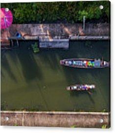 Floating Market Aerial View Acrylic Print by Pradeep Raja PRINTS