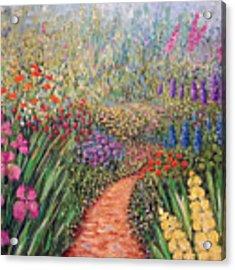 Flower Gar02den  Acrylic Print by Lynn Buettner