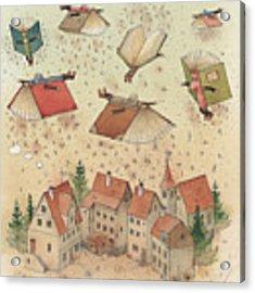 Flying Books Acrylic Print