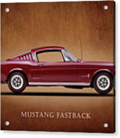 Ford Mustang Fastback 1965 Acrylic Print