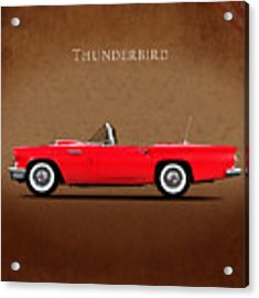 Ford Thunderbird 1957 Acrylic Print by Mark Rogan
