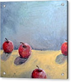 Four Apples Acrylic Print by Michelle Calkins