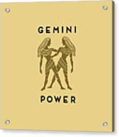 Gemini Power Acrylic Print by Judy Hall-Folde