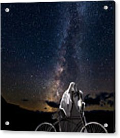 Ghost Rider Under The Milky Way. Acrylic Print by James Sage