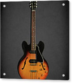 Gibson Es-330 Acrylic Print by Mark Rogan