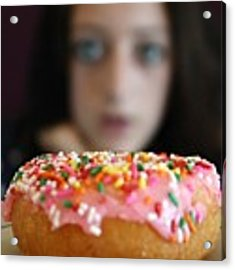 Girl With Doughnut Acrylic Print