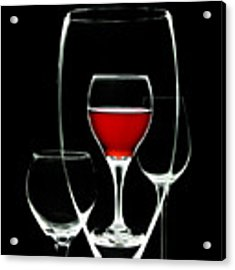 Glass Of Wine In Glass Acrylic Print