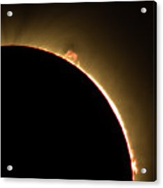 Great American Eclipse 16x9 Prominence As Seen In Albany, Oregon. Acrylic Print by John King