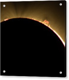 Great American Eclipse Prominence 5x7 As Seen In Albany, Oregon. Acrylic Print by John King