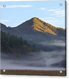 Ground Fog In Cataloochee Valley - October 12 2016 Acrylic Print by D K Wall