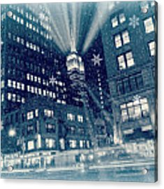 Happy Holidays From New York City Acrylic Print by Rima Biswas