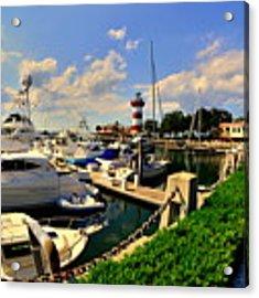 Harbour Town Marina Sea Pines Resort Hilton Head Sc Acrylic Print by Lisa Wooten