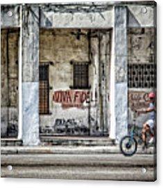 Havana Graffiti Street Scene Acrylic Print by Gigi Ebert