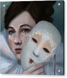 Hiding Behind Masks Acrylic Print by Angela Murdock
