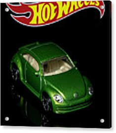 Hot Wheels 2012 Volkswagen Beetle Acrylic Print by James Sage