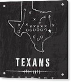 Houston Texans Art - Nfl Football Wall Print Acrylic Print