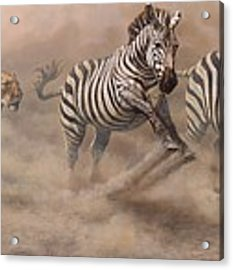 In Pursuit Acrylic Print by Alan M Hunt
