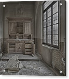 Interior Furniture Atmosphere Of Abandoned Places Dig Photo Acrylic Print by Enrico Pelos