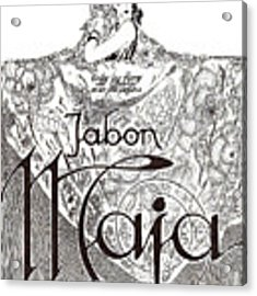 Jabon Acrylic Print by ReInVintaged
