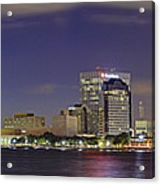 Jacksonville Florida Skyline - Panoramic - City Acrylic Print by Jason Politte