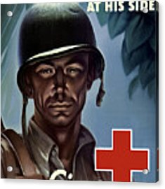 Keep Your Red Cross At His Side Acrylic Print