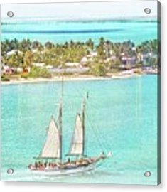 Key West Sailing Day Acrylic Print by Alice Gipson