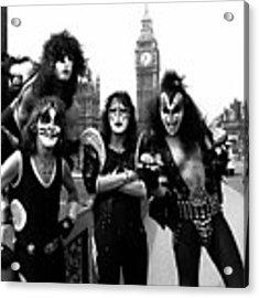 Kiss In London 1976  Acrylic Print