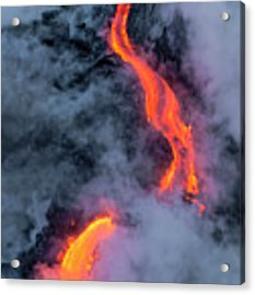 Lava Flowing Into The Ocean 20 Acrylic Print by Jim Thompson