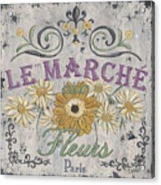 Le Marche Aux Fleurs 1 Acrylic Print by Debbie DeWitt