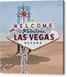 Leaving Las Vegas Acrylic Print by Scott Listfield