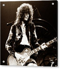 Led Zeppelin - Jimmy Page 1975 Acrylic Print by Chris Walter
