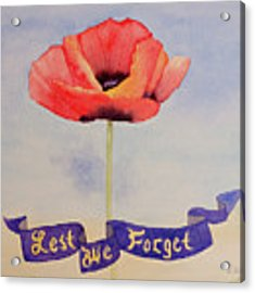 Lest We Forget Acrylic Print by Laurel Best