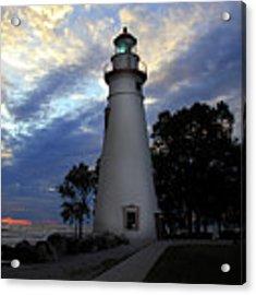 Lighthouse At Sunrise Acrylic Print by Angela Murdock