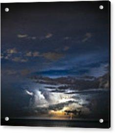 Lightning's Water Dance Acrylic Print by Steven Santamour