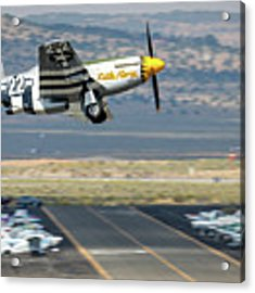 Little Horse Gear Coming Up Friday At Reno Air Races 16x9 Aspect Acrylic Print by John King