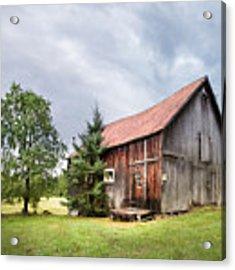 Little Rustic Barn, Adirondacks Acrylic Print by Gary Heller