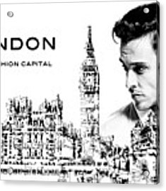 London The Fashion Capital Acrylic Print by ISAW Company