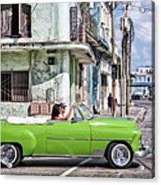 Lovin' Lime Green Chevy Acrylic Print by Gigi Ebert