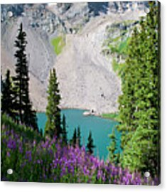 Lower Blue Lake Summer Portrait Acrylic Print by Cascade Colors