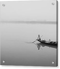 Lower Ganges - Misty Morinings Acrylic Print by Chris Cousins